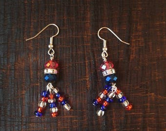 SALE Fourth of July Fireworks Earrings