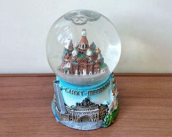 Souvenir. The snow globe. The Cathedral of our Savior on spilled blood, or Savior on the spilled Blood . Saint-Petersburg. Russia
