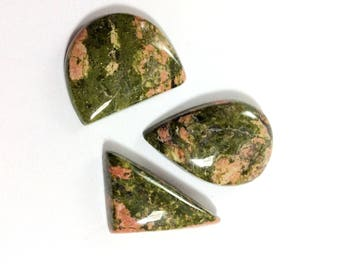 Unakite cabochons gemstone 22 to 35mm
