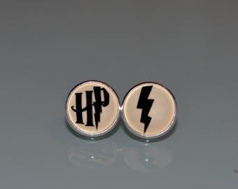 Harry Potter earrings - Harry Potter jewelry - alohomora studs - HP alohomora spell - Harry Potter Party HP jewelry - for Harry Potter fan