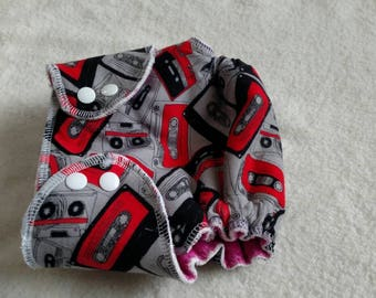 Size 2 Waterproof Hybrid Fitted Cloth Diaper