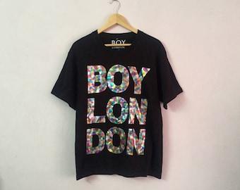 SALE ! Vintage BOY LONDON t shirt big logo spell out logo