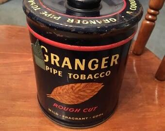 Vintage Granger pipe empty tobacco tin
