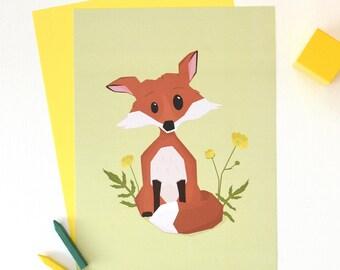 Fox print - Nursery Decor - Poster - Kids room decor - Wall art for children