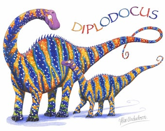 Dinosaur Greeting Card - Diplodocus