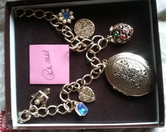 Paula Abdul necklace with locket and charms