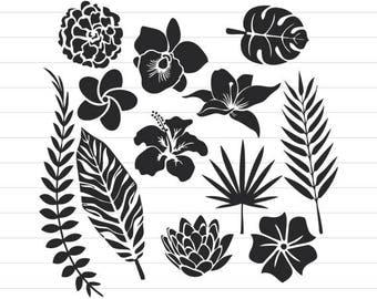 INSTANT DOWNLOAD - Flower Svg, Flower Svg Bundle, Flower Svg Files, Flower Clipart, Flower Silhouette, Flower Silhouette Svg, Flower Files