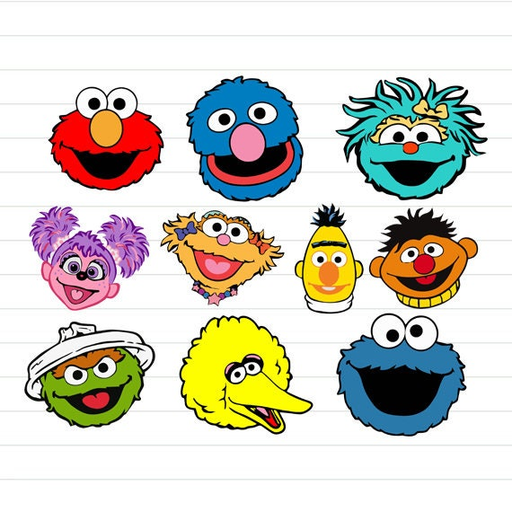 Current image inside sesame street printable faces