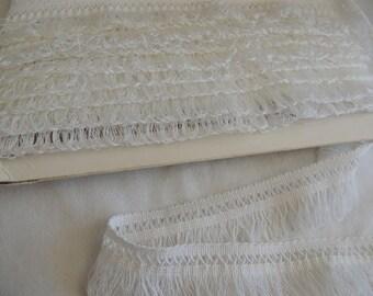 White lace fringe width 4 cm