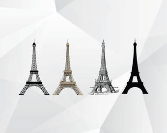 Eiffel tower svg,png,ai,eps/Eiffel tower clipart for Print,Design,Silhouette,Cricut and any more