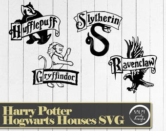 Harry Potter Houses | SVG,PNG, Cut File for Silhouette or Cricut | Hufflepuff | Slytherin | Gryffindor | Ravenclaw