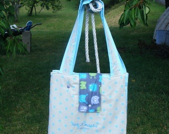 "diaper bag, changing pad Nomad collection ""little monster"""