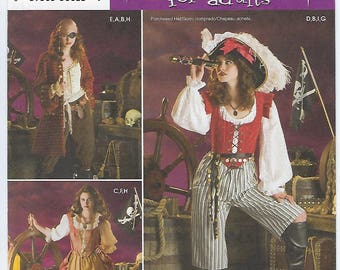 Simplicity 3677 - MISSES Pirate Costumes