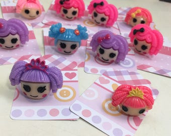 La La lala Loopsy Doll Birthday Party Favor Childrens Adjustable Rings lot of 10