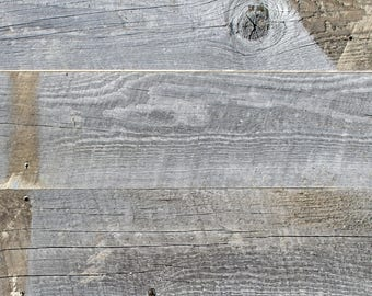 """5"""" Reclaimed Wood Planks from Reclaimed Snow Fence Wood - Laramie Finish"""