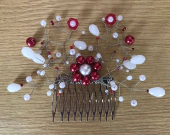 Beaded hair comb decoration