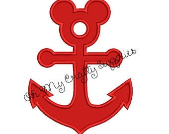 Mouse Anchor Applique Design
