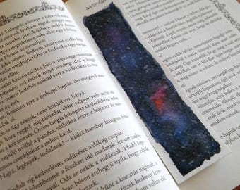 Sky watercolor original art unique bookmark, book lover gift