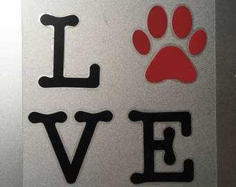 Decal Love Dogs