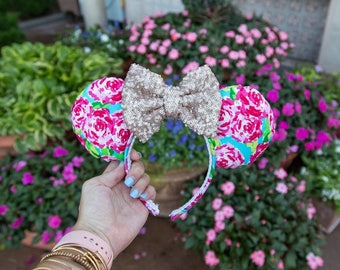 Lilly Pulitzer Inspired Minnie Mouse Ears