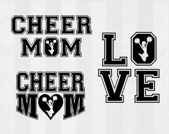 Cheer SVG, Cheer mom SVG, Cheer Digital Download for Silhouette Cameo or other vinyl cutting machines, Cheerleader svg files, cheer shirt