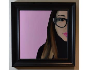 Pretty in Pink - Framed oil on canvas
