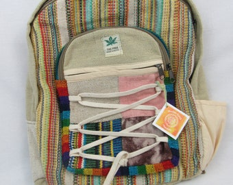 Hemp handmade fair trade backpack