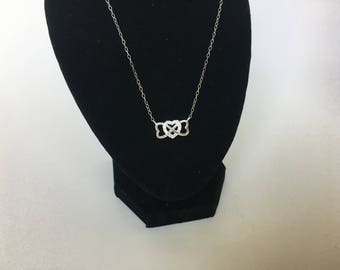 20% OFF 925 sterling silver three heart necklace with cubic zirconia
