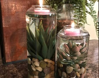 Floating Tealight Candle, Floating Candle, Candle Terrarium, Decorative Candles, Summer Candles, Candles with Water,
