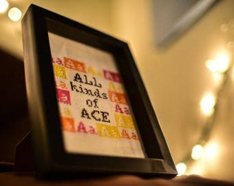 All kinds of Ace colorful original cross-stitch (made-to-order, or DIY Kit)