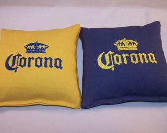 Embroidered Regulation Corona Beer Cornhole Bags Set of Eight - Sweet