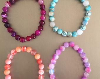 Ceramic beaded bracelets