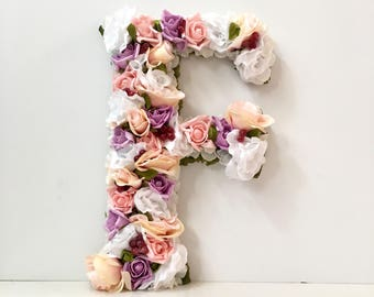 Letter Wall Decor for Nursery, Giant Wall Letters for Nursery Wall Letters, Giant Letters for Wall Flower Letters Wall Decor Letters