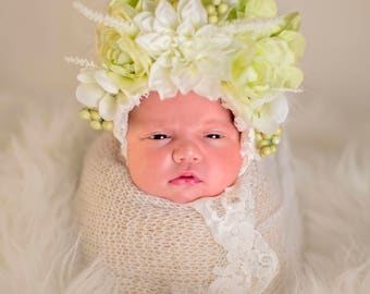 Newborn photography bonnet