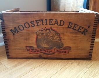Moosehead Beer Canadian Lager Crate