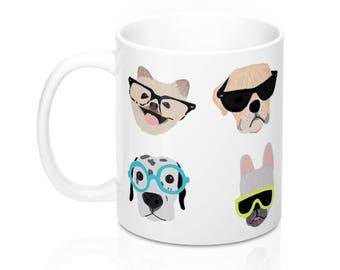 Hipster Dog Mug
