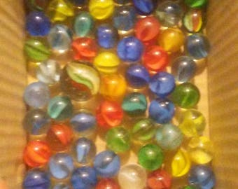 Vintage lot of 83 cat eyes marbles all colors