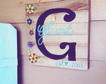Last Name PORCH Sign