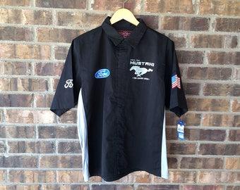 Ford Mustang Shirt - Workshirt - Button Down Work Shirt
