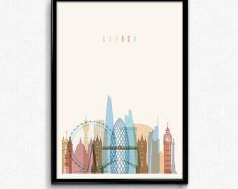 London travel canvas art print poster