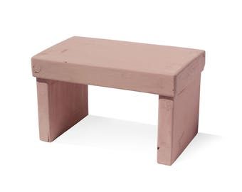 Cathedral Rose Kids' Step Stool - Solid Paint
