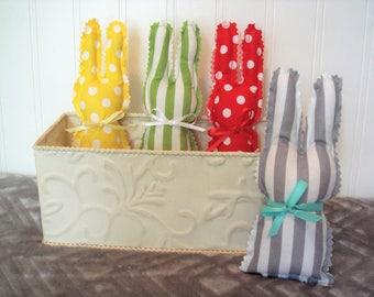 Baby Nursery Decor, Set of Four Bunnies for Baby Nursery, Baby Gift