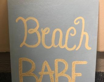 Beach Babe Canvas