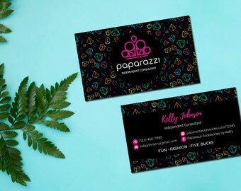 PERSONALIZED Paparazzi Business Card, Custom Paparazzi Accessories Business Card, Fast Free Personalization, Printable Business Card PZ09