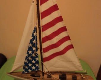 Display model sail boat