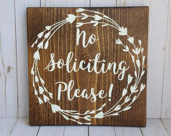 No Soliciting Please Sign, No Soliciting Sign, Porch Sign
