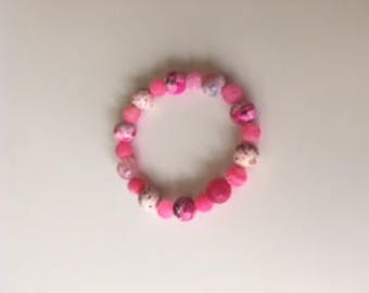 Pink n' White Bracelet