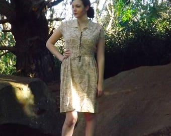 Vintage 40s rayon dress large