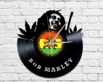 Bob Marley - Vinyl - Wall clock - Reggae - Music - Rasta