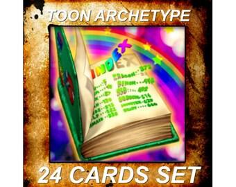 Yugioh Orica Anime Toon Archetype Set of 24 cards